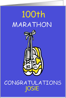 100th Marathon Congratulations to Customize with Any Name. card