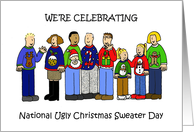 National Ugly Christmas Sweater Day Invitation. card