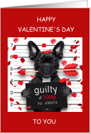 Valentine's Cute Convict Pup, to or from Prisoner. card