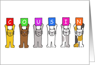 National Cousins Day July 24th, cute cats. card