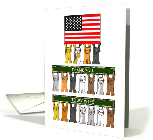 National Military Spouse Appreciation Day for Wife, Cartoon Cats. card