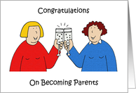 Congratulations to lesbian new parents. card