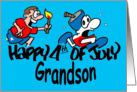 Happy 4th of July Grandson card