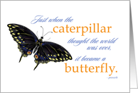 Inspirational Saying & Butterfly Greeting Card Encouragement card