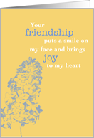 Friendship & Joy, Lilac Flower, Blank Any Occasion card