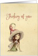 Thinking of You, Woodland Fairy, Blank Inside card