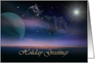 Holiday Greetings of the Celestial Kind, Happy New Year Card