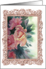 Vintage Roses Blank Note Cards