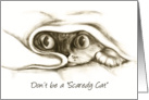 Don't Be a Scaredy Cat Encouragement card