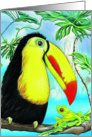 Best Friends Forever Toucan and Frog Blank Note Card