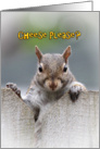 Cheese Please? Squirrel Coming Home Welcome Card