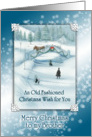 Old Fashioned Snowy White Christmas Wish for Brother Card