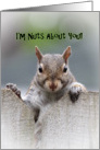 Squirrel Says I'm Nuts About You Card