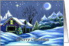 Merry Christmas Home for the Holidays Christmas Cottage Card
