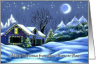 Merry Christmas from Our Home to Yours Christmas Cottage Card