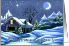 Merry Christmas, Daughter in Law Christmas Cottage Card