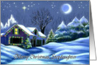 Merry Christmas, Stepdaughter Christmas Cottage Card