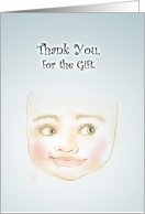 Thank You for the Gift, Smiling Baby Blue Card