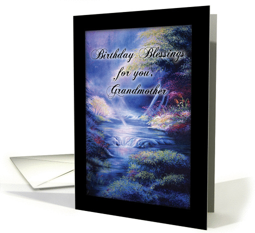 Birthday Blessings Peaceful River for Grandmother card (1167396)