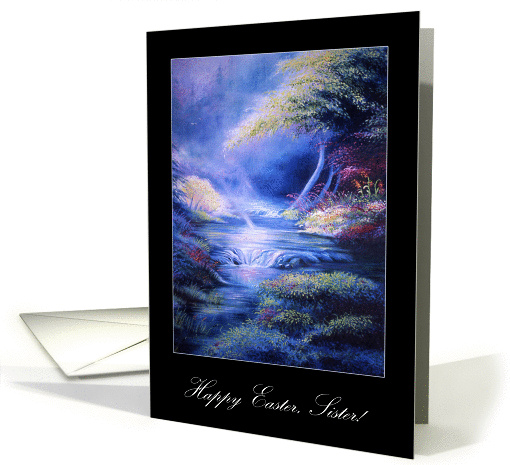 Faithstream Peaceful Waters Happy Easter to Sister card (1228302)
