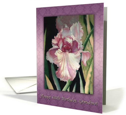 One Iris Lavender Lace, 68th Birthday for Grandma card (1295750)