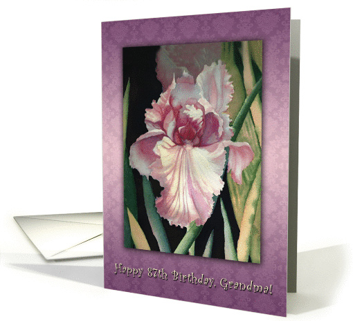 One Iris Lavender Lace, 87th Birthday for Grandma card (1299280)