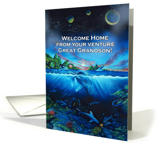 Welcome Home from study abroad to Great Grandson card (1391856)