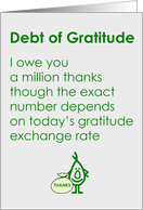 Debt of Gratitude - A thank You Poem focusing on precision card