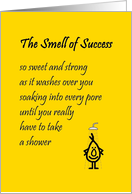 The Smell Of Success – a funny congratulations poem from all of us card