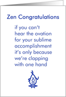 Zen Congratulations - a funny congratulations poem for the new grad card