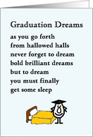 Graduation Dreams - funny college graduation poem card