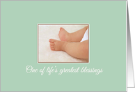 Baby Congratulations Life's Greatest Blessings card