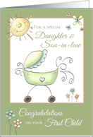 Congratulations 1st child - for Daughter & Son-in-Law card