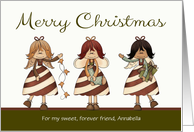 Christmas, to custom name / relationship - Candy Cane Angels card