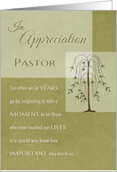Pastor In Appreciation for your Ministry card