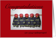 Firefighter Retirement Congratulations card
