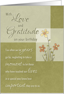 Birthday to Friend - Love & Gratitude through the years card