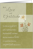 Friend - Love & Gratitude through the years card