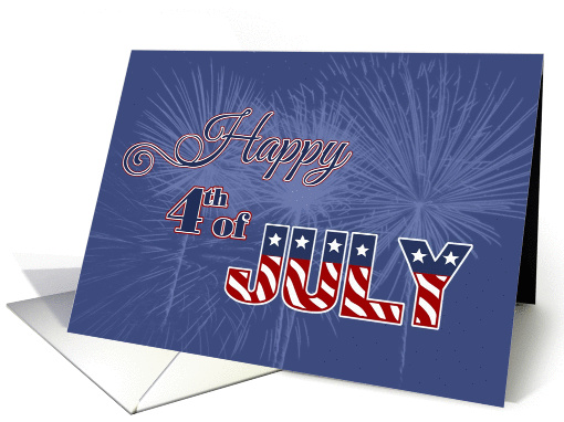 Happy 4th of July Fireworks card (1290220)