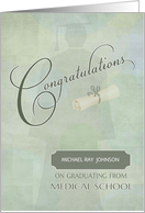 Congratulations Medical School Graduate Custom Name card