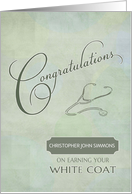 Congratulations White Coat Custom Name card