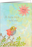 Congratulations on New Baby - A little bird told me card