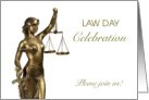 Law Day Celebration Invitation Lady Justice card