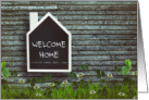 Welcome Home from Boarding School Chalkboard card