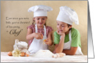 Chef Congratulations on New Job - children playing with food card
