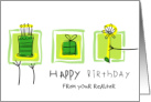 Happy Birthday from Realtor card