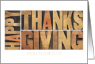 Happy Thanksgiving from Realtor card
