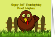 Happy First Thanksgiving Great Nephew card