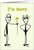 I'm Sorry with Flower from Him to Her card