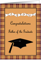 Brown & Plaid Congratulations Father of the Graduate card